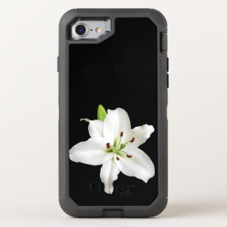 white lily OtterBox defender iPhone 8/7 case