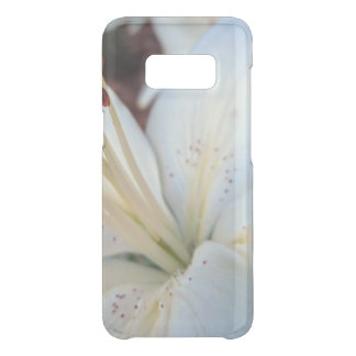 white lily pretty uncommon samsung galaxy s8 case