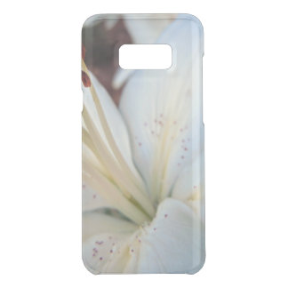white lily pretty uncommon samsung galaxy s8 plus case