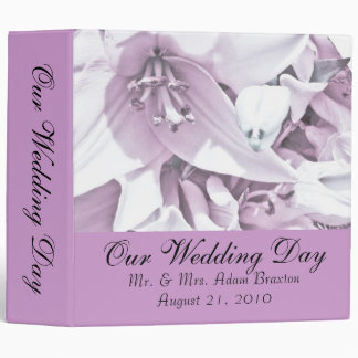 White Lily Wedding Photo Album Binders