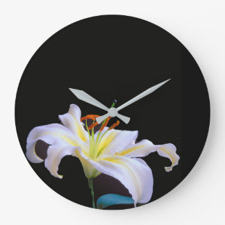 White Lilys image for Round (Large) Wall Clock