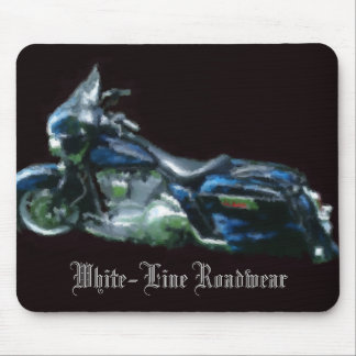 White-Line Mousepad