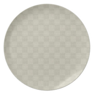 White Linen Checkered Plate