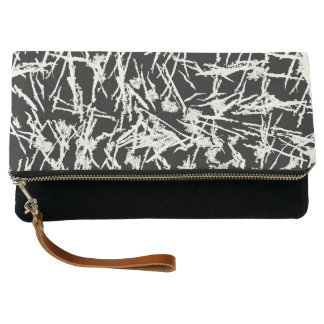 White Lines Clutch Bag