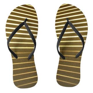 White Lines Flip Flops