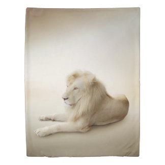 White Lion (1 side) Twin Duvet Cover