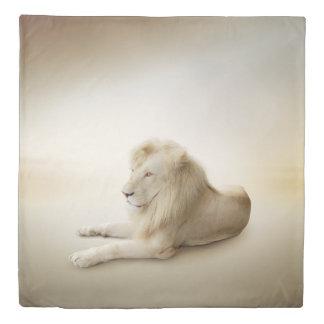 White Lion (2 sides) Queen Duvet Cover
