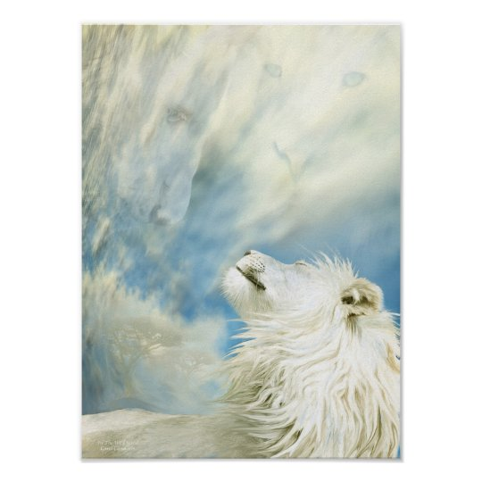 White Lion - In The Wild Wind Art Poster/Print Poster