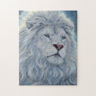 White Lion Jigsaw Puzzle