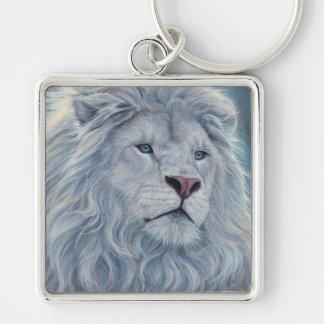 White Lion Keychain