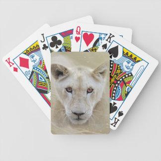 White Lion Spirit Warrior Africa Bicycle Playing Cards