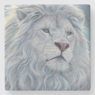 White Lion Stone Coaster