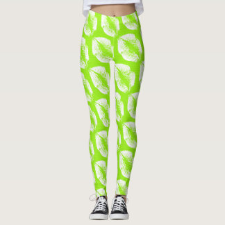 White Lips Modern Lime Leggings