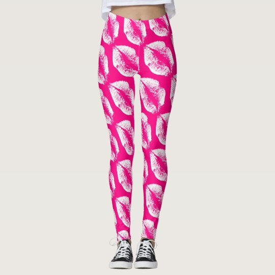 White Lips Modern Rose Leggings