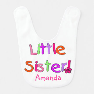 White Little Sister Bib