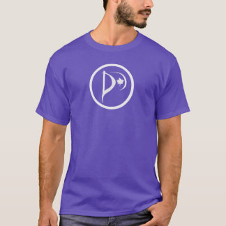 White Logo on Purple T-Shirt (two sided print)