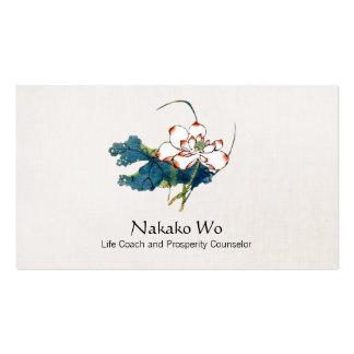 White Lotus Flower Health, Wellness & Healing Pack Of Standard Business Cards