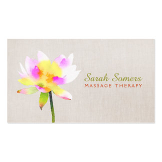 White Lotus Holistic Alternative Health Spa Pack Of Standard Business Cards