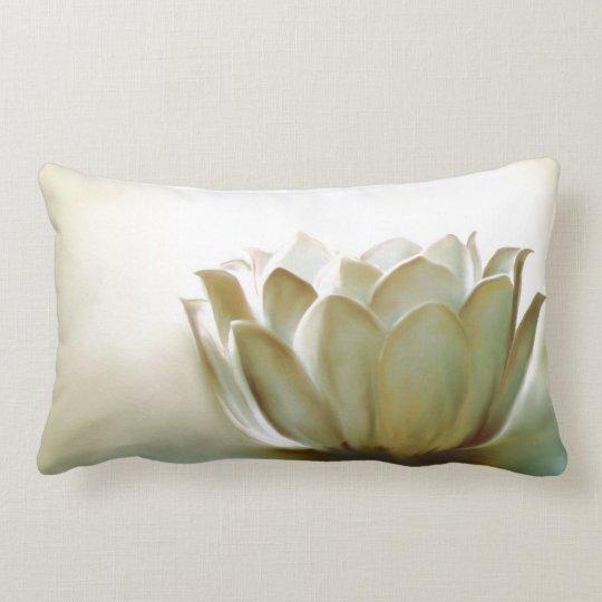 White Lotus Lumbar Pillow