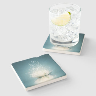 White Lotus Magic Stone Coaster