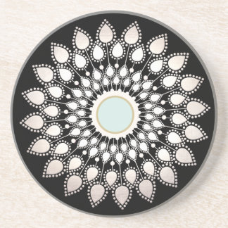 White Lotus Mandala Coaster