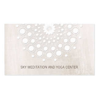 White Lotus Mandala Yoga and Meditation Teacher Pack Of Standard Business Cards