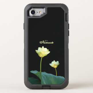 White Lotus Water Lily Namaste Blessing OtterBox Defender iPhone 7 Case