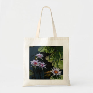 White Lotus Waterlilies tote bag