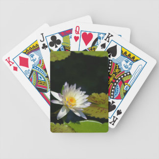 White Lotus Waterlily and Lily pads Playing Cards