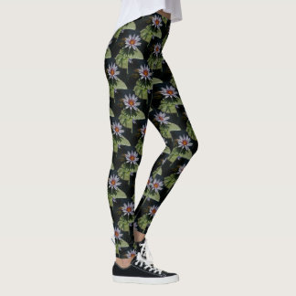 White Lotus Waterlily Leggings