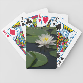 White Lotus Waterlily Lily Pads Playing Cards