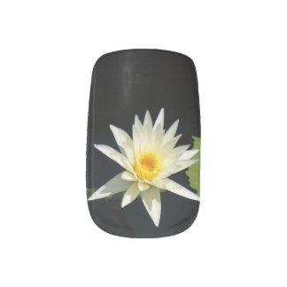 White Lotus Waterlily Nail Art