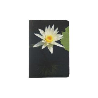 White Lotus Waterlily Passport Holder