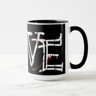 White Love Mug Black 15oz 277 By Zazz_it