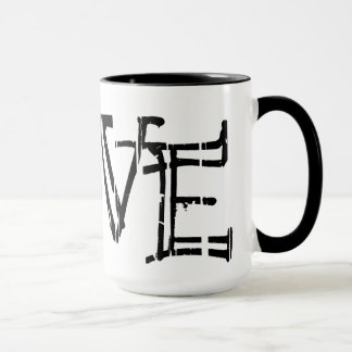 White Love Mug Black 15oz 278 By Zazz_it