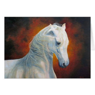 """White Magic"" Horse Greeting Card"