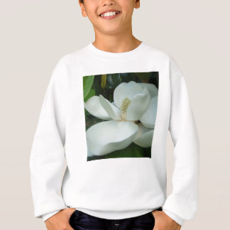 white magnolia bloom large petals sweatshirt