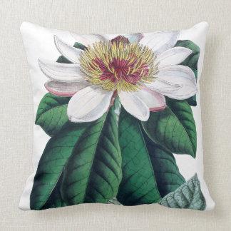 White Magnolia Grandiflora Botanical Cushion