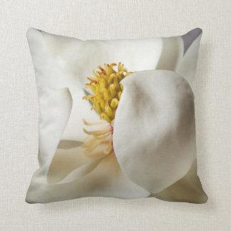 White Magnolia Tree Flower Floral Trees Flowers Throw Pillow