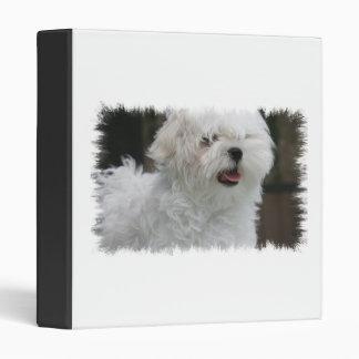 White Maltese Dog Binder
