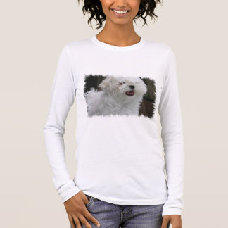 White Maltese Puppy Ladies Long Sleeve T-Shirt