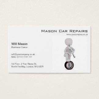 White Man, Mechanic Business Card