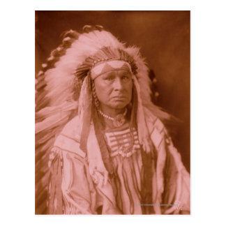 White Man Runs Him - Crow Postcard