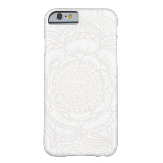 White Mandala Barely There iPhone 6 Case
