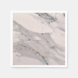 White Marble 1 Paper Napkins