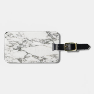White Marble Bag Tag