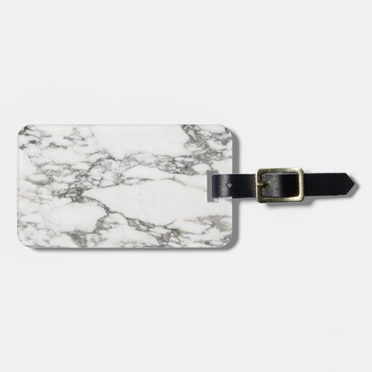 White Marble Bag Tag