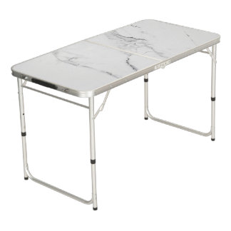 White marble beer pong table