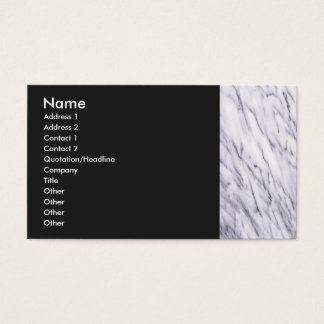 White Marble Border Profile Card