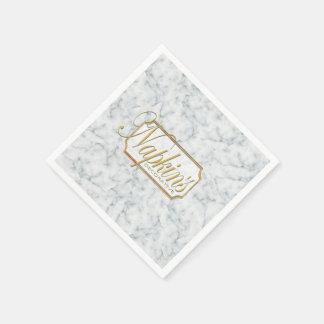 White Marble Decorative Paper Napkin 2
